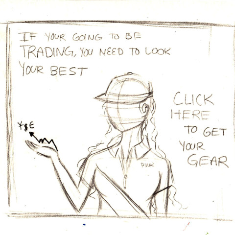Pencil Sketch for Ad  - Sketch for Day Trade Manipulators Ad