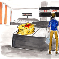 Airport Scene 01 - Storyboard Illustration