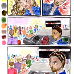 Airport Scene 02 - Storyboard Illustration