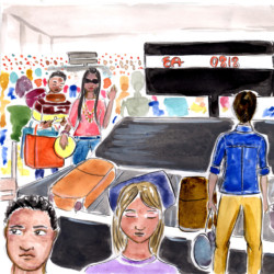 Airport Scene 03 – Storyboard Illustration