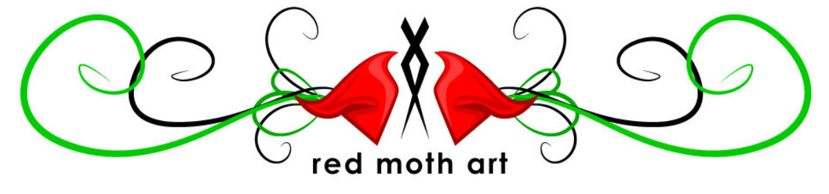 Red Moth Art