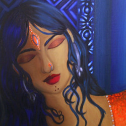Desi Girl - Oil Painting