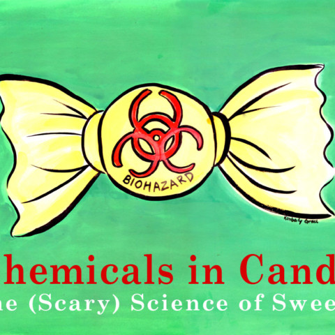 Chemicals in Candy Editorial Illustration