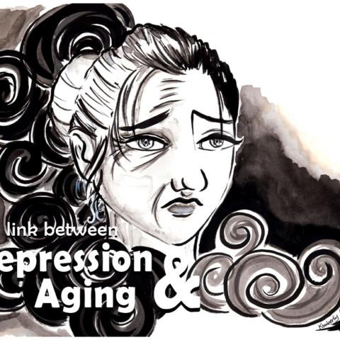 Aging and Depression Editorial Illustration