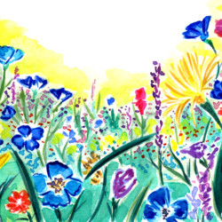 Wildflowers - Watercolor Painting