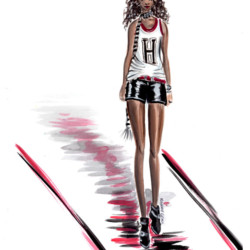 Runway Spring 2017 Ready to Wear Tommy Hilfiger - Fashion Illustration