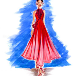 Runway Spring 2017 Ready to Wear Valentino– Fashion Illustration