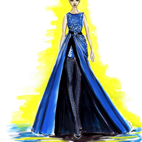 Runway Fall 2017 Couture Elie Saab – Fashion Illustration