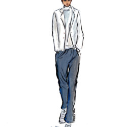 Ermenegildo Zegna Fall 2017 - Menswear Fashion Illustration