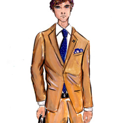 Lardini Fall 2017 - Menswear Fashion Illustration